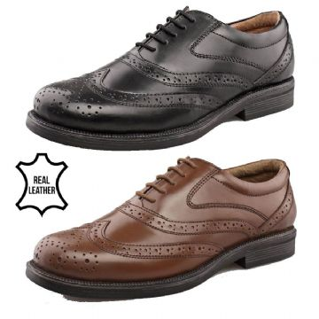 Amado Macario™ Mens Wide Fitting Leather Brogue Shoes